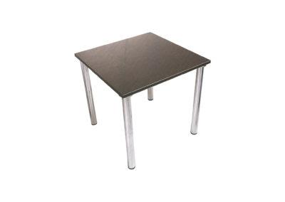 Table à 4 pieds ronds en acier