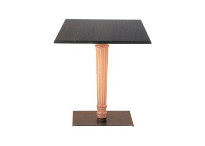 Table carrée - colonne bois