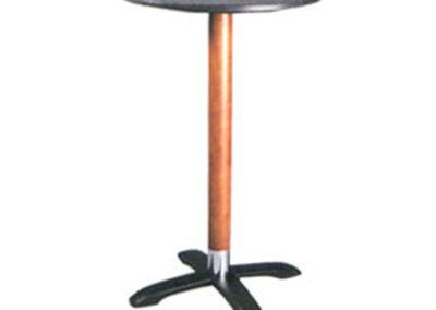 Table haute - colonne bois - HK2
