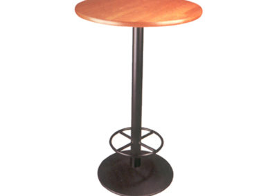Table haute pied en fonte
